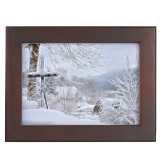 winter in France Keepsake Box