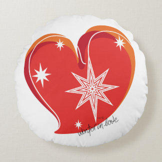 winter in love-Signature-Red Round Cushion