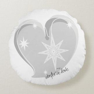 winter in love-Signature-Silver Round Cushion