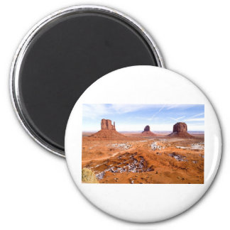 Winter in Monument Valley Magnet