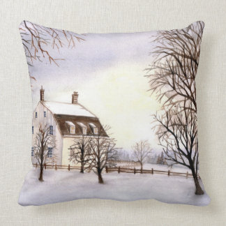 Winter in New England Cushion