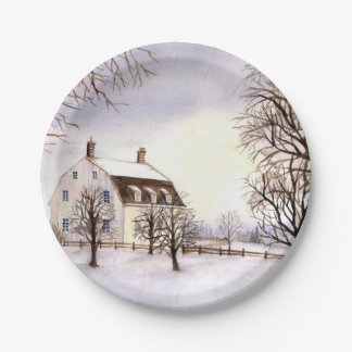 Winter in New England Paper Plate