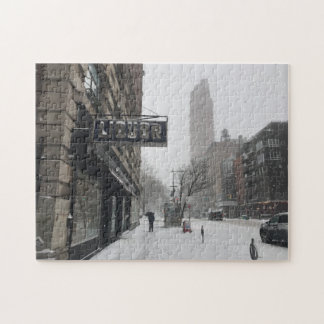 Winter in NYC New York Snowstorm Photo Puzzle