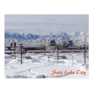 Winter in Salt Lake City Postcard