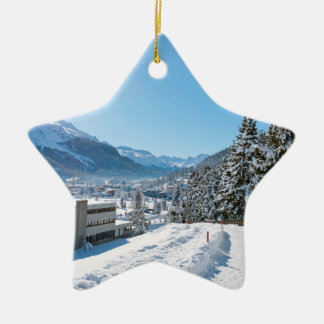 Winter in St. Moritz Ceramic Ornament