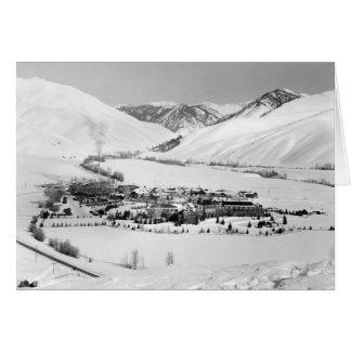 Winter in Sun Valley, Idaho, circa 1940 Card