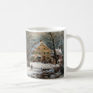 Winter in the Country, A cold  Morning Coffee Mug