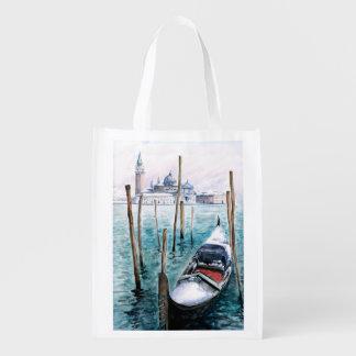 Winter in Venice Reusable Grocery Bag