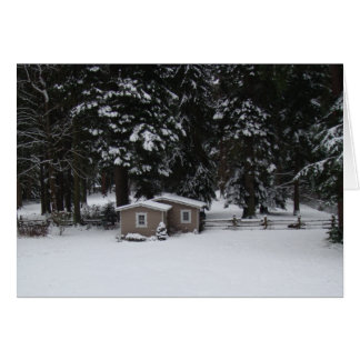 Winter in Woodway Card