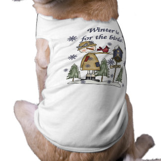 Winter is for the Birds T-shirts and Gifts Sleeveless Dog Shirt