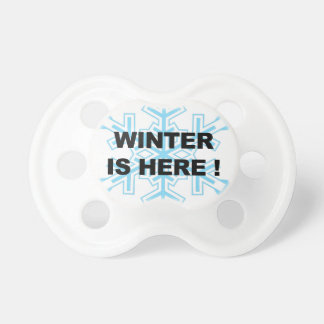 Winter is Here! Liberal Snowflake Baby Pacifier