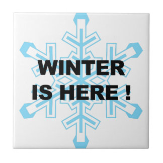 Winter is Here! Liberal Snowflake Ceramic Tile