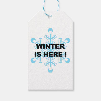 Winter is Here! Liberal Snowflake Gift Tags