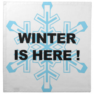 Winter is Here! Liberal Snowflake Napkin
