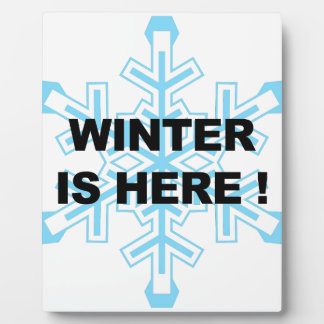 Winter is Here! Liberal Snowflake Plaque