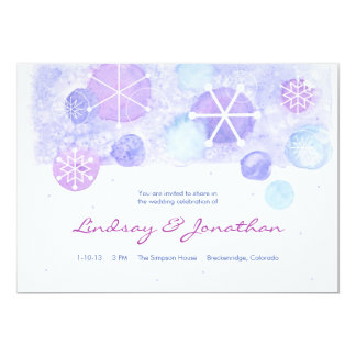 Winter Jewels Wedding Invitation