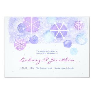 Winter Jewels Wedding Invitation