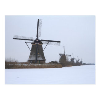 Winter Kinderdijk Postcard