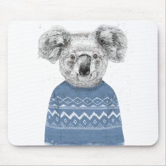 Winter koala mouse pad