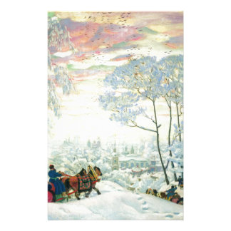 Winter._Kustodiev Stationery