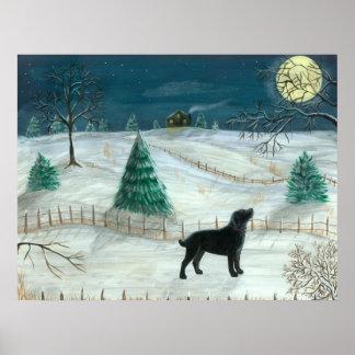 Winter Labrador Poster