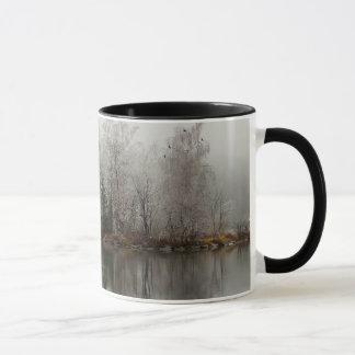 Winter Lake and Tree Scene from Austria Mug
