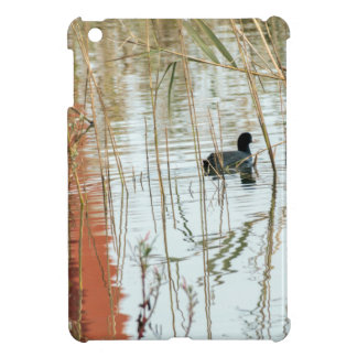 Winter lake colors black dark duck swimming iPad mini covers
