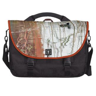 Winter lake colors black dark duck swimming laptop commuter bag