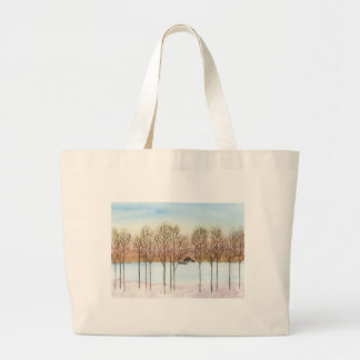 Winter Lake Large Tote Bag