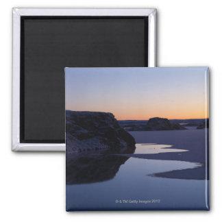 Winter, Lake Myvatn, Iceland Magnet