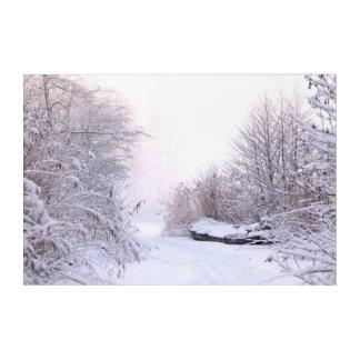 Winter landscape acrylic wall art
