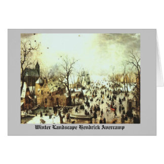 WINTER LANDSCAPE Hendrick Avercamp Card