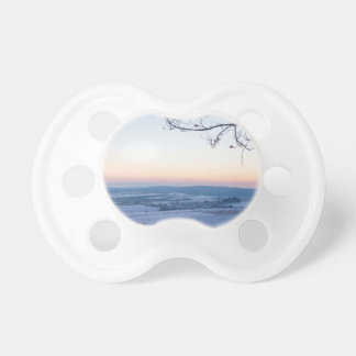 Winter landscape in Germany in the morning Baby Pacifier