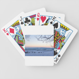 Winter landscape in Germany in the morning Bicycle Playing Cards