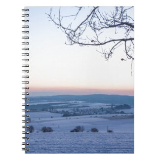 Winter landscape in Germany in the morning Notebook