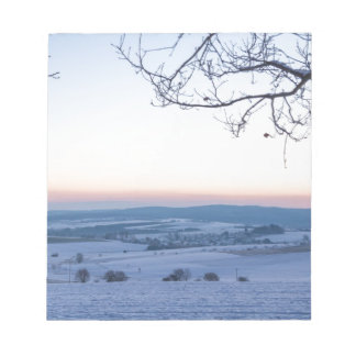 Winter landscape in Germany in the morning Notepad