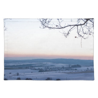 Winter landscape in Germany in the morning Placemat