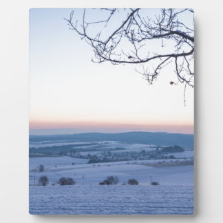 Winter landscape in Germany in the morning Plaque