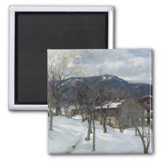 Winter landscape near Kutterling, 1899 Square Magnet