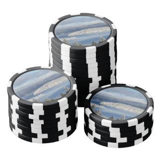 Winter landscape poker chips