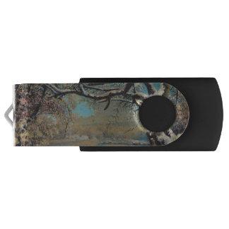 Winter Landscape Swivel USB 2.0 Flash Drive