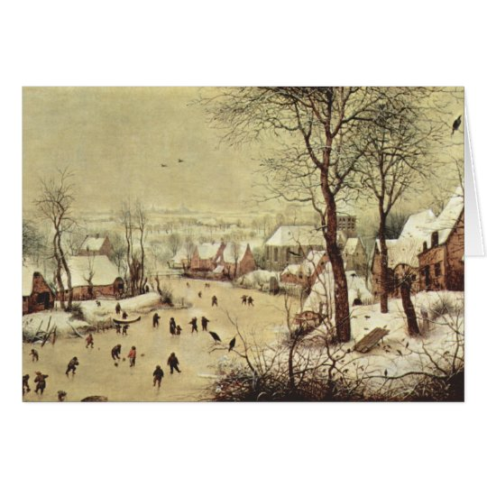 Winter Landscape with a Bird Trap - 1565 Card