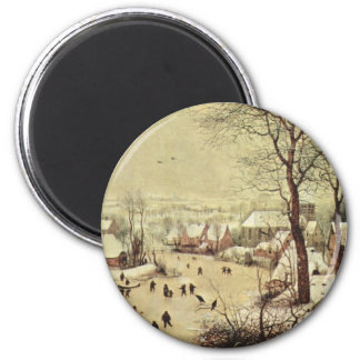 Winter Landscape with a Bird Trap - 1565 Magnets