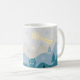 Winter Landscape with Bethlehem Star Coffee Mug