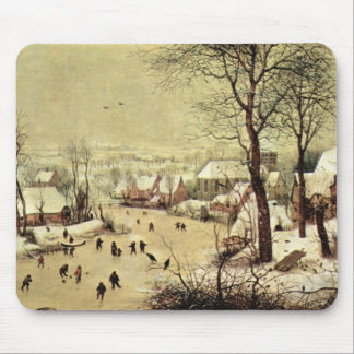 Winter landscape with skaters by Pieter Bruegel Mouse Pad