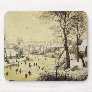 Winter Landscape with Skaters Mouse Pad