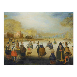 Winter Landscape with Skaters Postcard