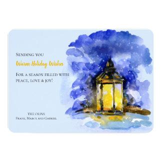 Winter Lantern Holiday Photo Card