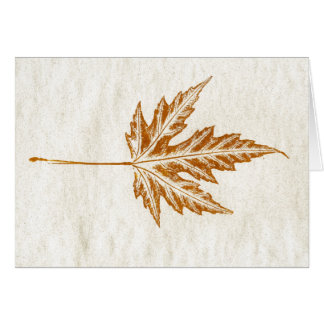 """""""Winter Leaf #4"""" Country Greeting Card"""
