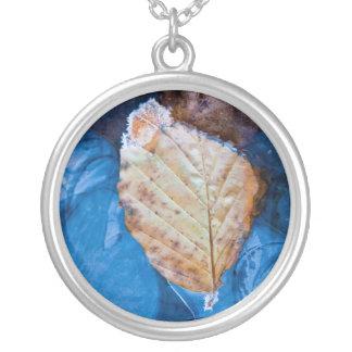 Winter leaf jewelry